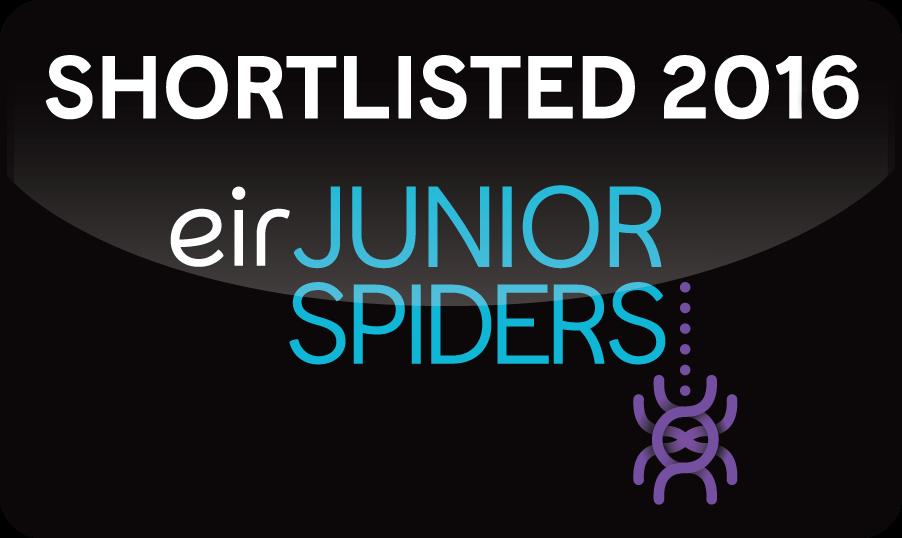 I've been shortlisted for an Eir Junior Spider Award!